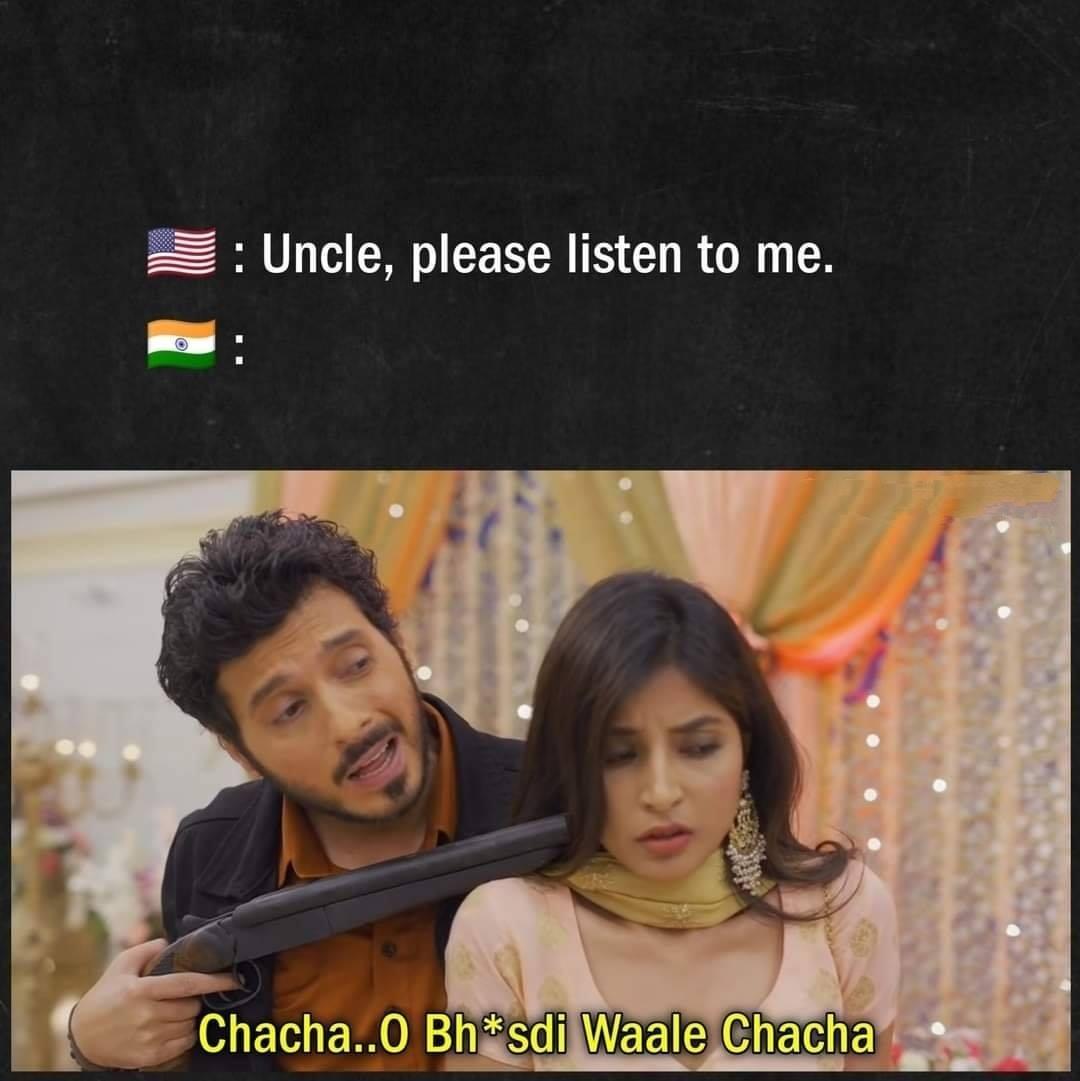 india v/s america meme mirzapur