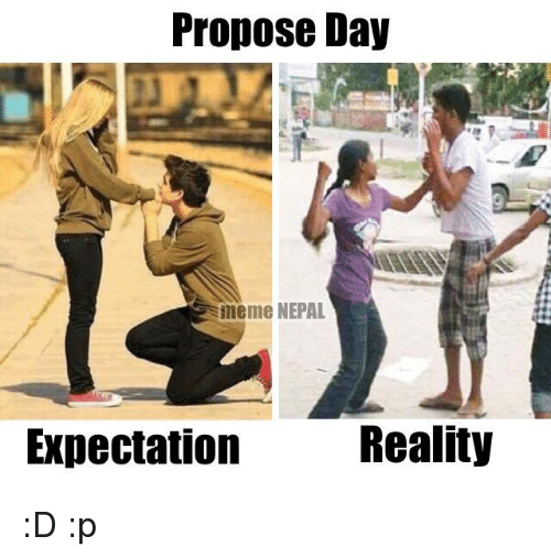 propose day expection vs reality memes