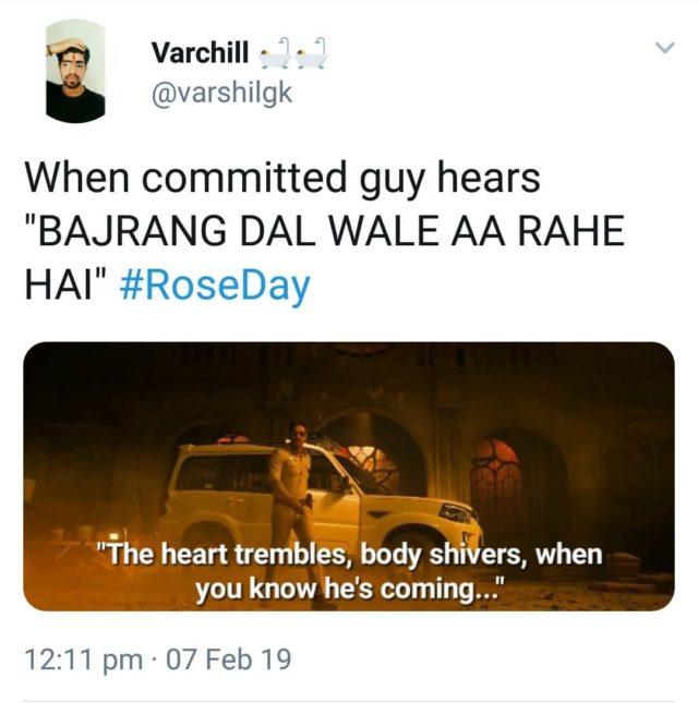 rose day bajrang dal memes