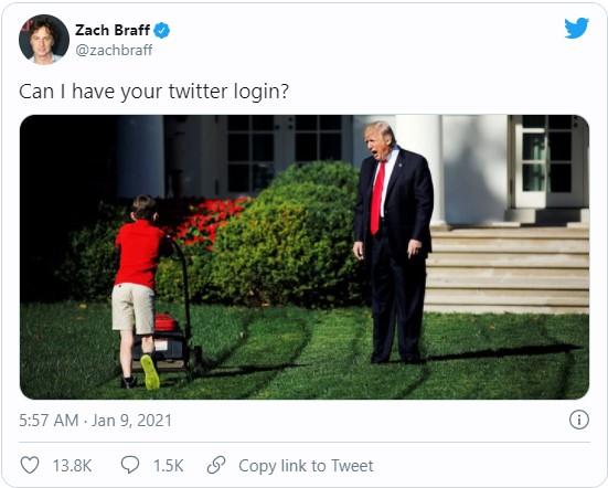 Trump banned on twitter meme