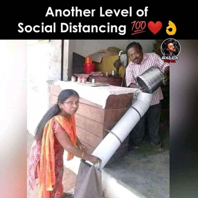 one of the best Social Distancing example