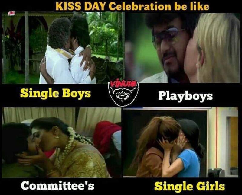 kiss day meme