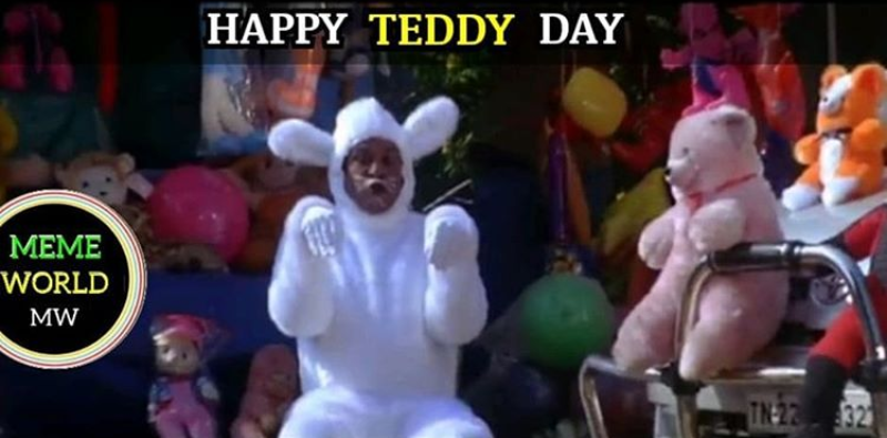 happy teddy day memes