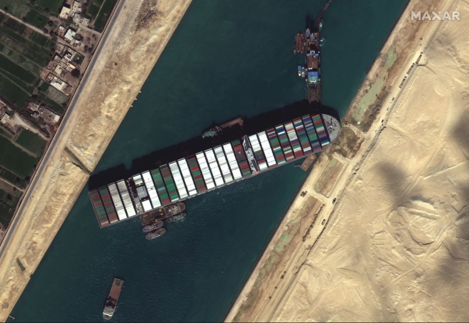 Giant Ever Given Ship Stuck At Egypt's Suez Canal For A Week Floats Again