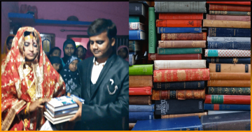 Indian Bride Rejected Dowry From Groom's Family & Asked for 80 Books Instead-min