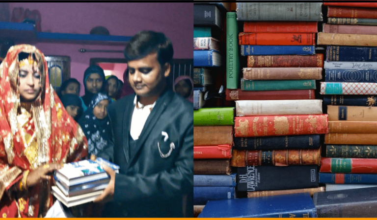 Indian Bride Rejected Dowry From Groom's Family & Asked for 80 Books Instead