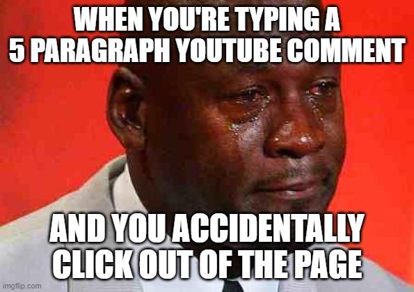 Crying Michael Jordan meme