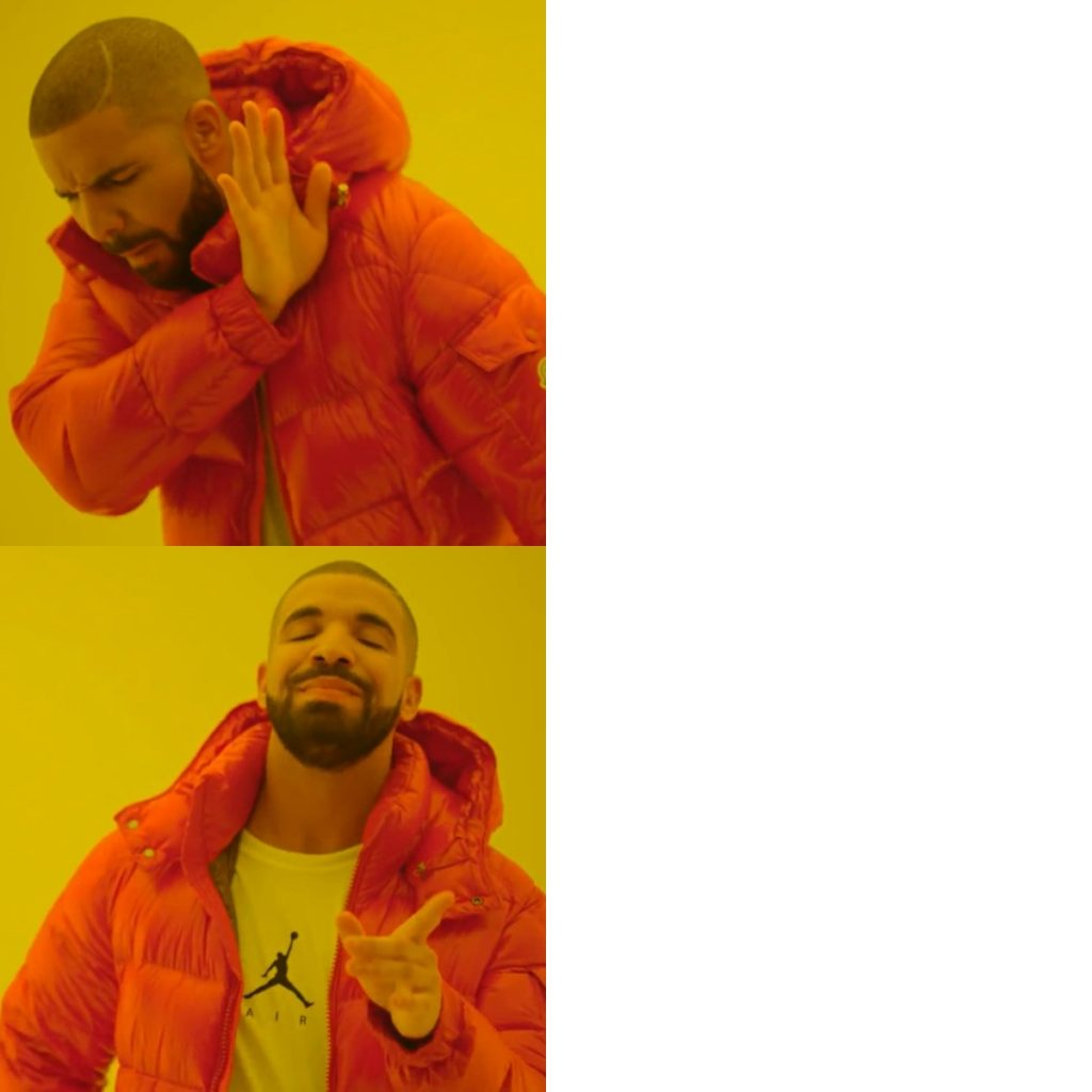 Drake Hotline Bling meme template