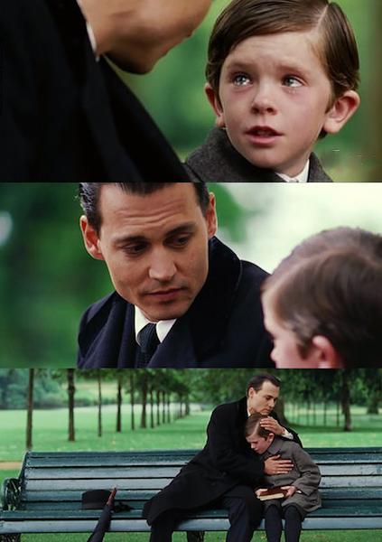 Finding Neverland meme template