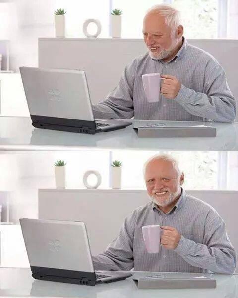 Hide the Pain Harold meme template