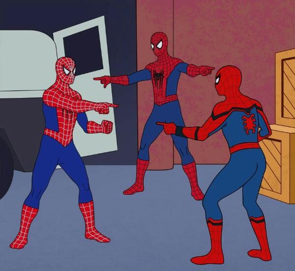 Spider Man Triple Meme Template