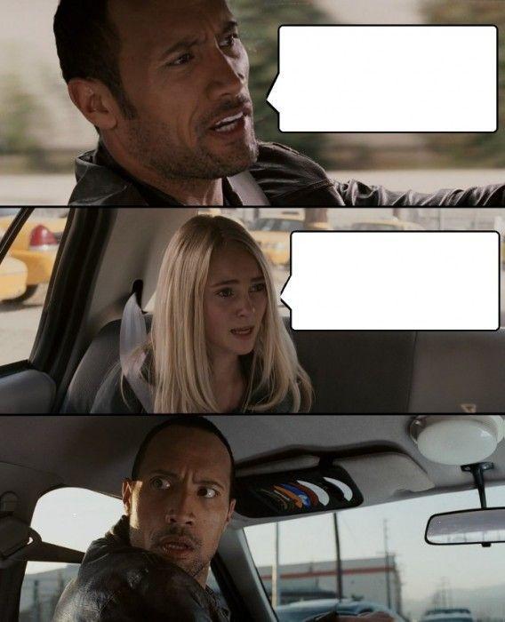 The Rock Driving meme
