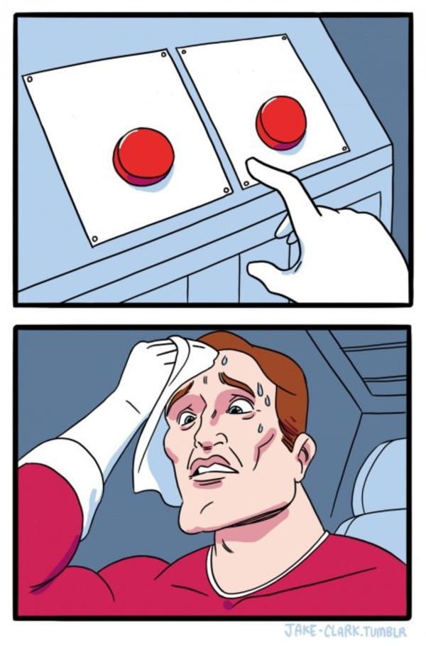 Two Buttons Blank Meme Template