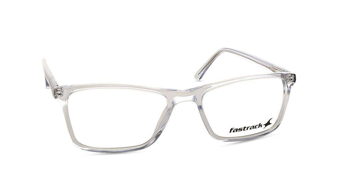 Transparent Rectangle Rimmed Eyeglasses